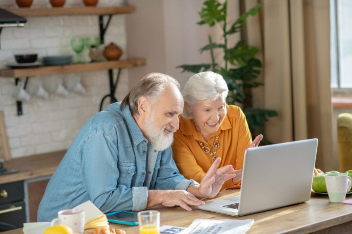 Senior Couple Virtual Call
